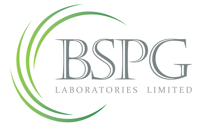 Logo image at BSPG Laboratories